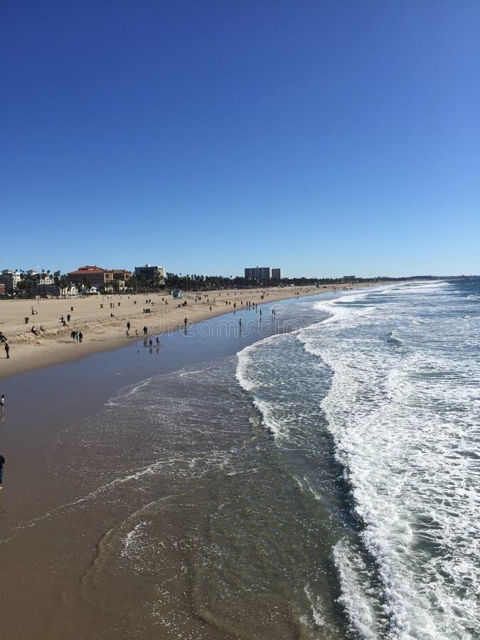 Santa Monica Beach lizenzfreie stockbilder