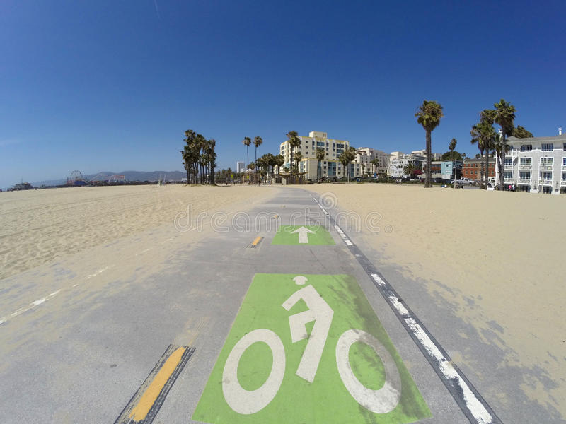 Santa Monica Beach Bike Path lizenzfreie stockfotografie