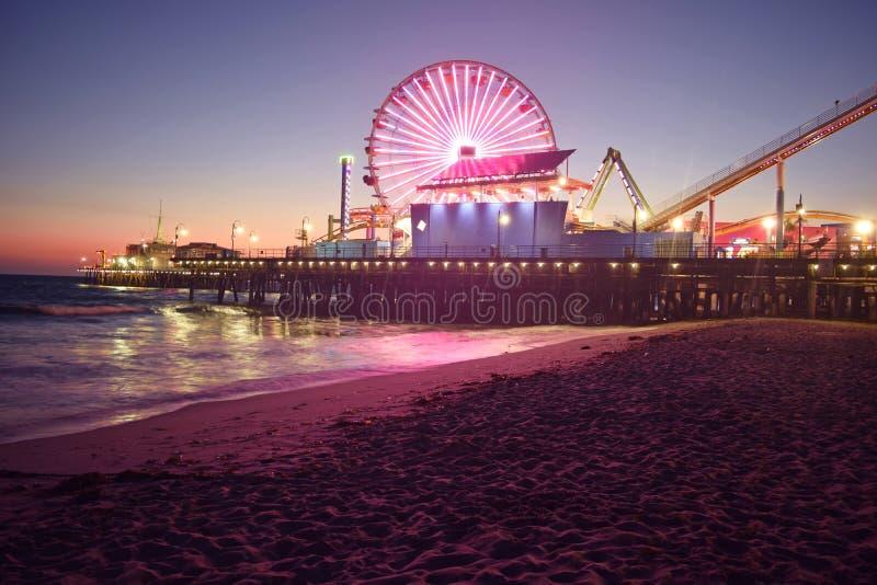 Santa Monica Beach. Just after Sunset stock photography