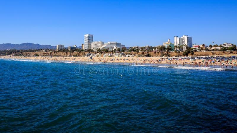 Santa Monica Beach. Los Angeles stock photography