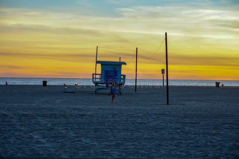 Santa Monica Beach y Océano Pacífico, Los Angeles fotografía de archivo libre de regalías