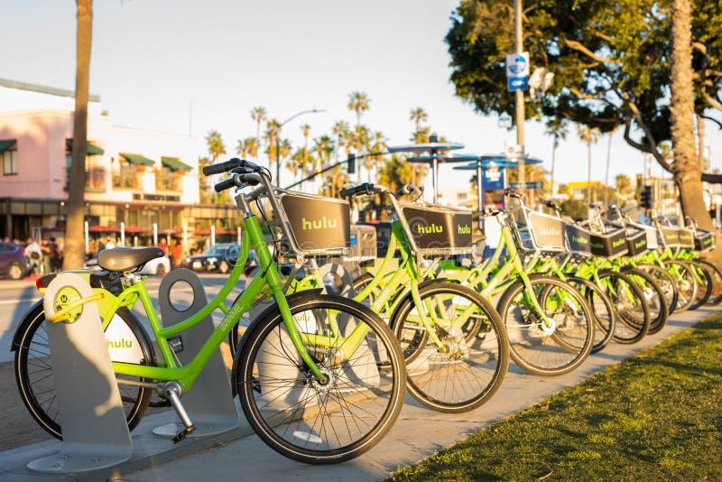 Santa Monica bike share program stock image
