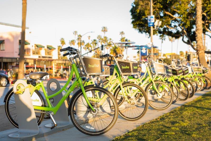 Santa Monica bike share program stock photo