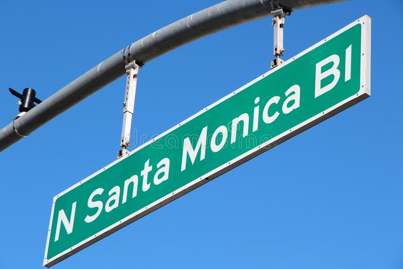 Santa Monica Boulevard arkivbilder