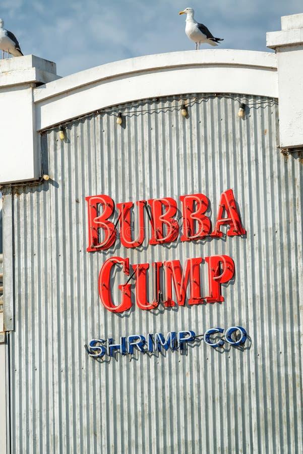 SANTA MONICA, CA - AUGUSTUS 1, 2017: Bubba Gump Shrimp Company onderzoek royalty-vrije stock foto
