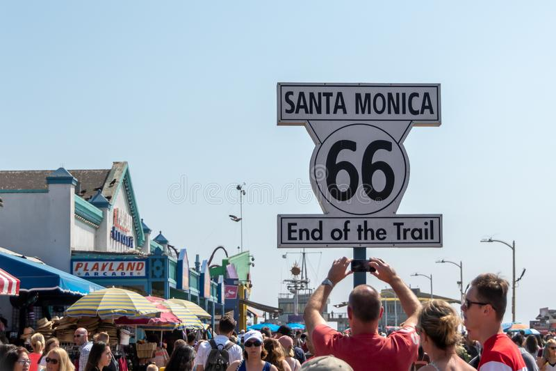 End of the Route 66 stock image