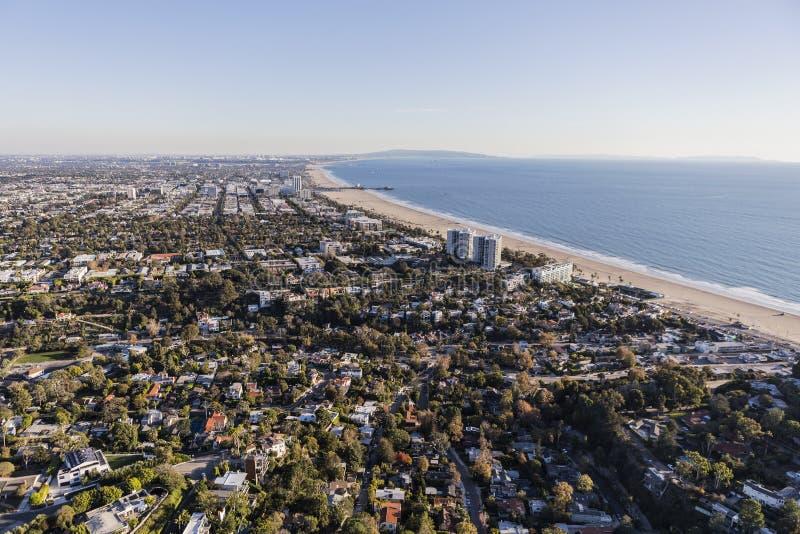 Santa monica california aerial view stock photo image of for Cox paint santa monica