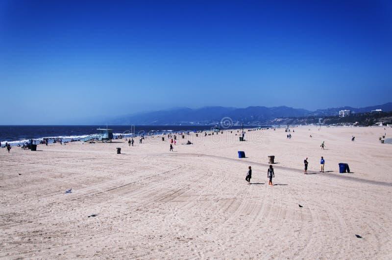 Santa Monica California Beach och landskap arkivbild