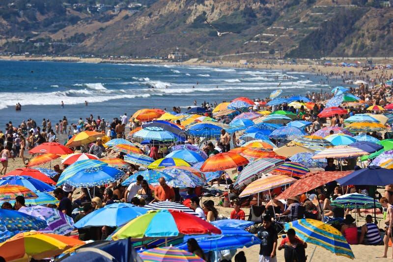 Santa Monica California-Strand stockbilder