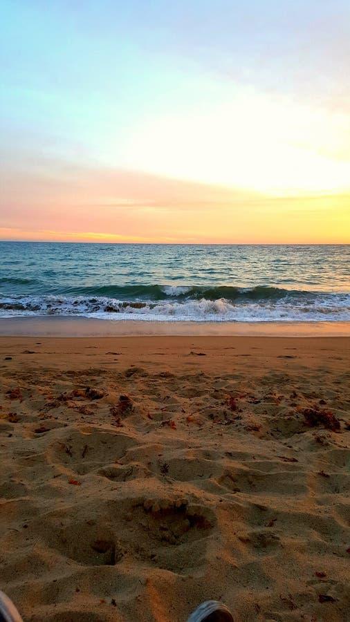 Santa Monica domenica calda da rilassarsi fotografia stock