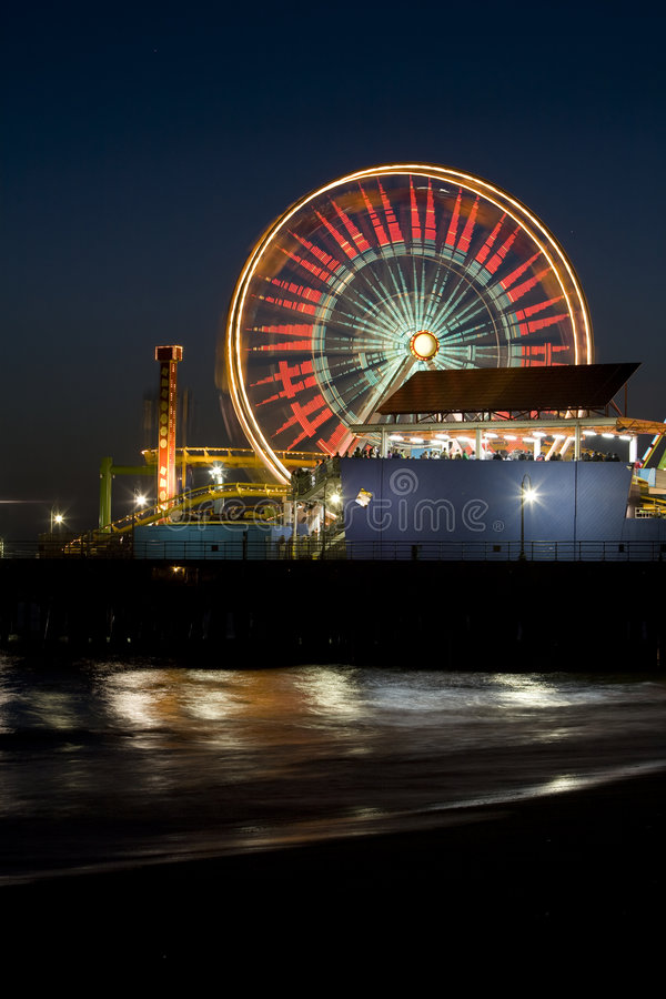 Download Santa Monica Ferris Wheel 1 Stock Image - Image of lights, santa: 5077367