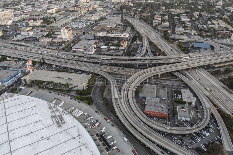 Santa Monica Freeway Interchange Aerial Los Angeles stockbild