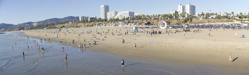 Santa Monica-het teken van de strandpijler royalty-vrije stock fotografie