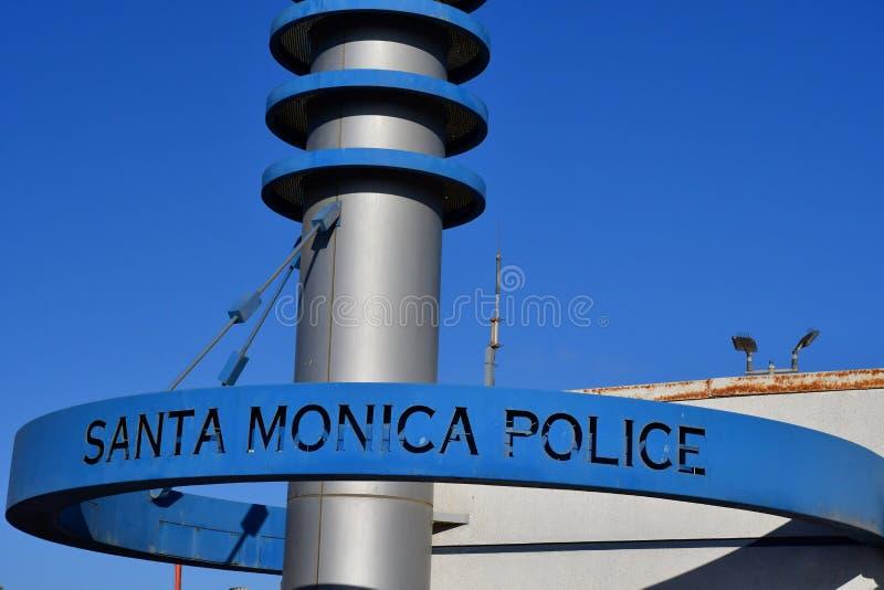 Santa Monica, la Californie, Etats-Unis - 15 juillet 2016 : commissariat de police photographie stock