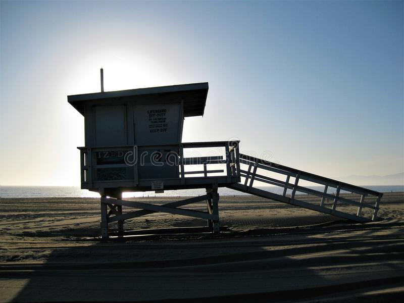 Santa Monica Life Guard Tower stockbilder