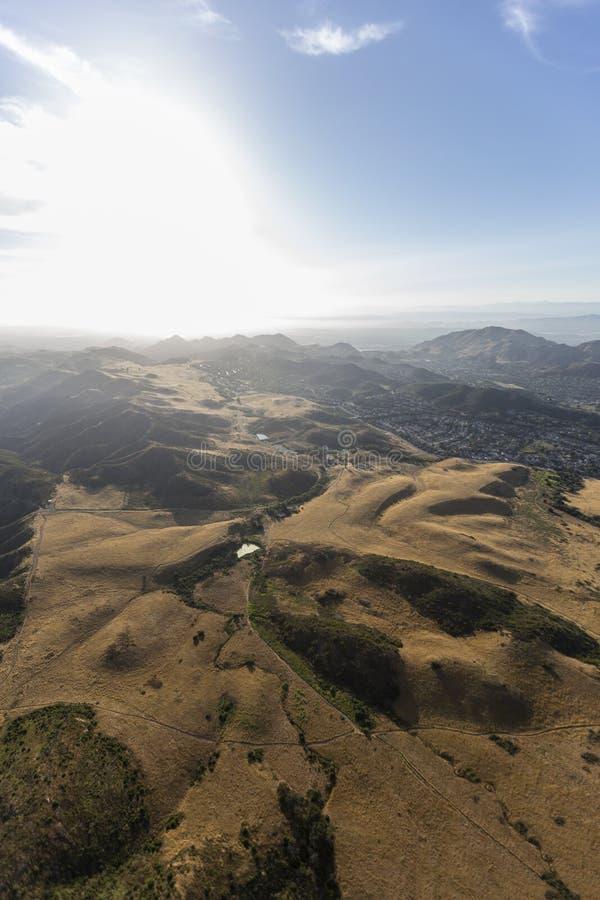 Santa Monica Mountains National Recreation Area antenn royaltyfria foton