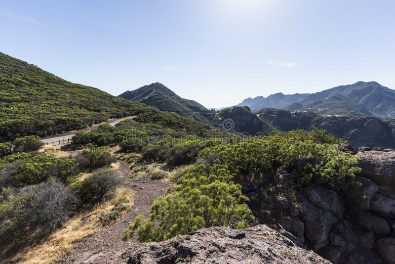 Santa Monica Mountains National Recreation Area. View towards Yerba Buena Road and Boney Mountain Wilderness Area in the Santa Monica Mountains National stock photos