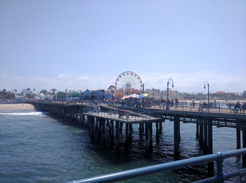 Santa Monica Pier stockfotos