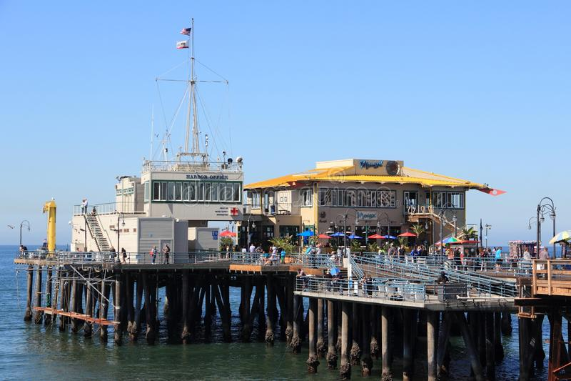 Santa Monica Pier imágenes de archivo libres de regalías