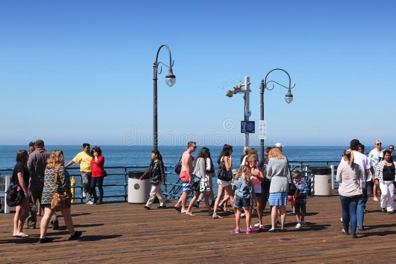 Santa Monica Pier imagen de archivo