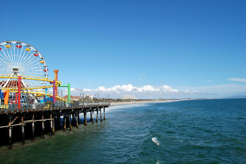 Download Santa Monica pier stock photo. Image of outdoors, colorful - 13151906