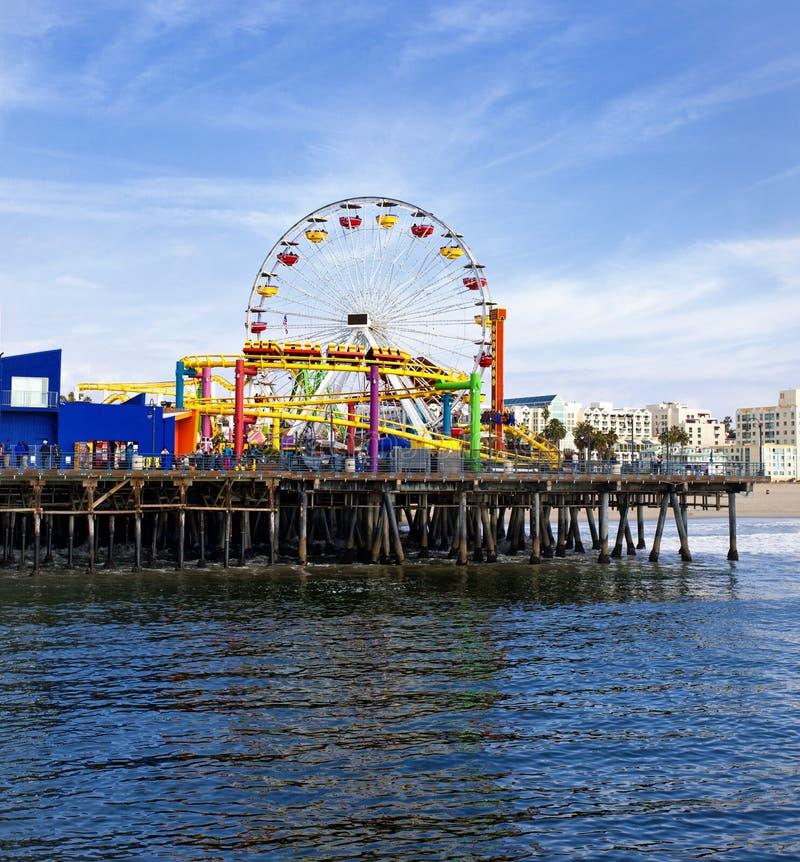 Santa Monica Pier. Pacific Park on Santa Monica Pier stock photography