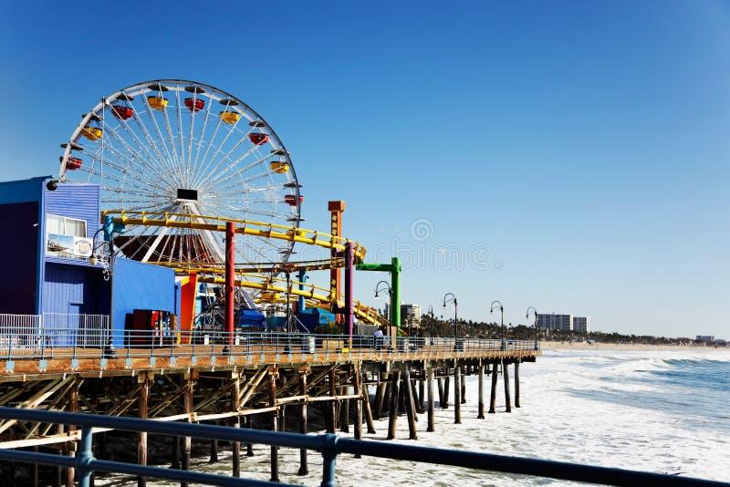 Santa Monica pier. Ferris wheel on Santa Monica Pier, Los Angeles stock photos