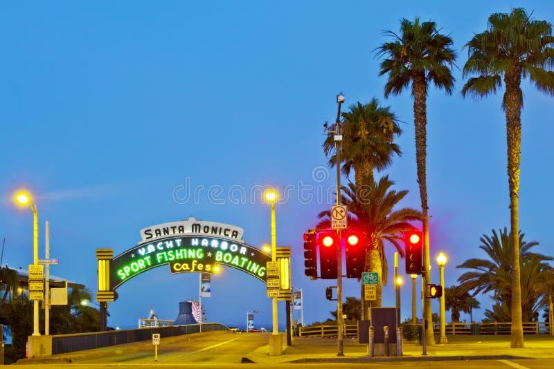 Download Santa Monica Pier editorial photography. Image of coast - 20805872