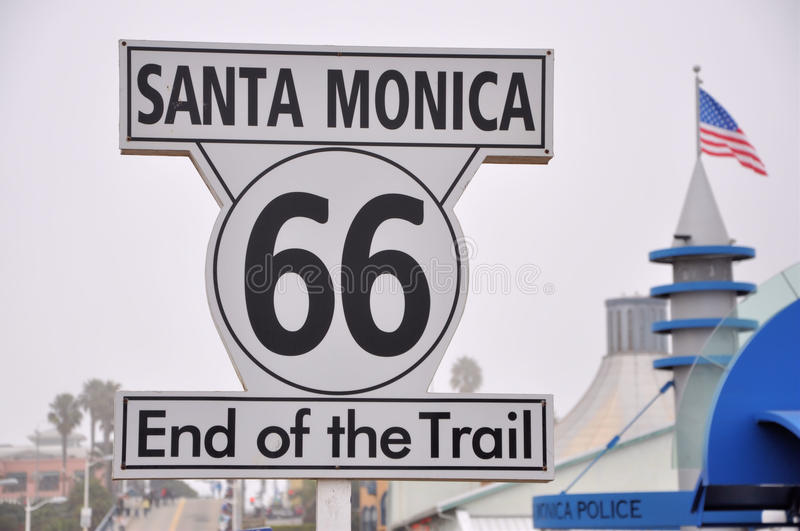 Santa Monica Pier. Image of Santa Monica Pier, CA taken December 30th 2011 stock image