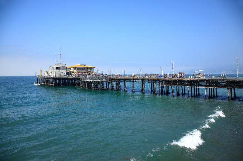 Download Santa Monica Pier editorial stock image. Image of stretches - 26238489