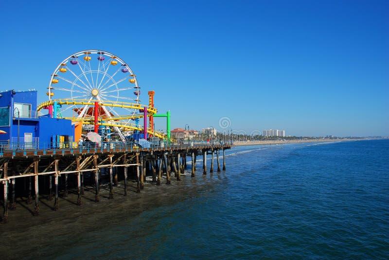 Santa Monica Pier. View of Santa Monica Pier looking to the South of Santa Monica Beach royalty free stock image