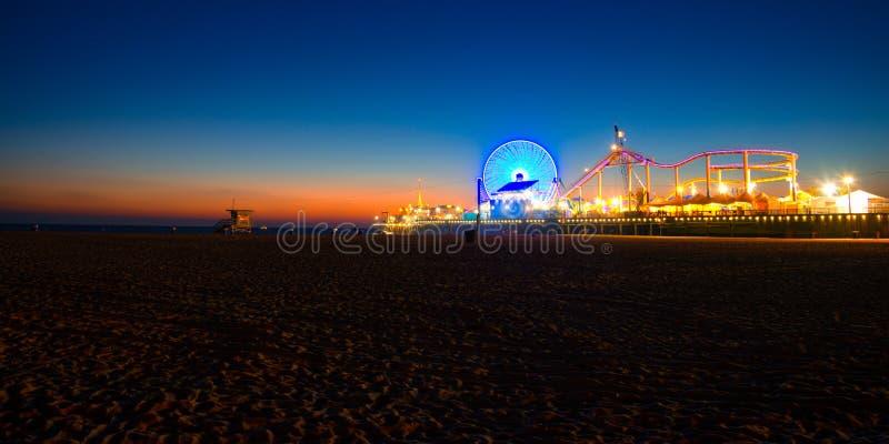 Santa Monica Pier fotografia de stock royalty free