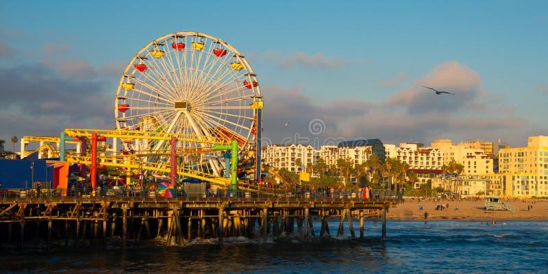 Santa Monica Pier imagem de stock