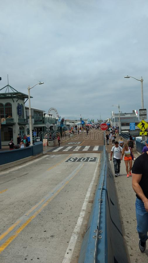 Santa Monica Pier stock foto's