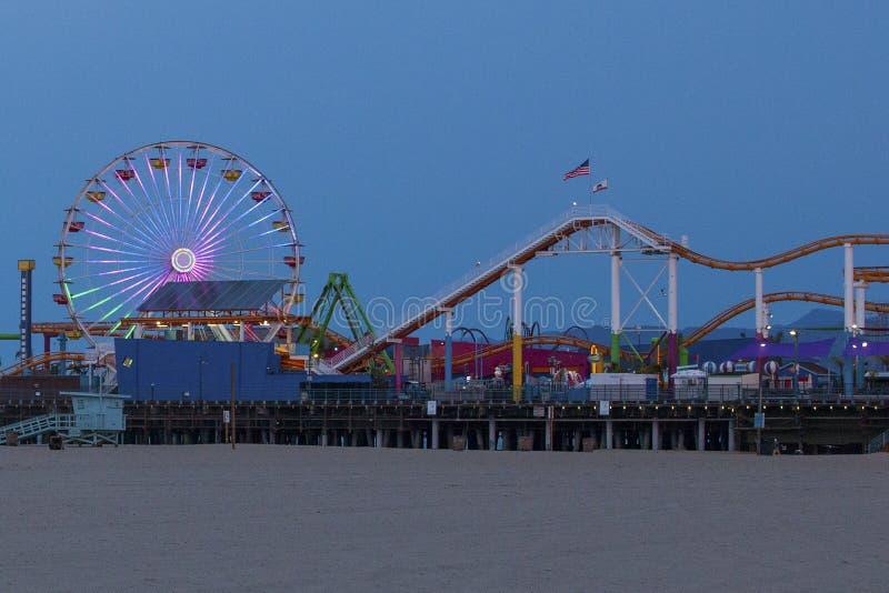 Santa Monica Pier Amusement Park imagens de stock royalty free