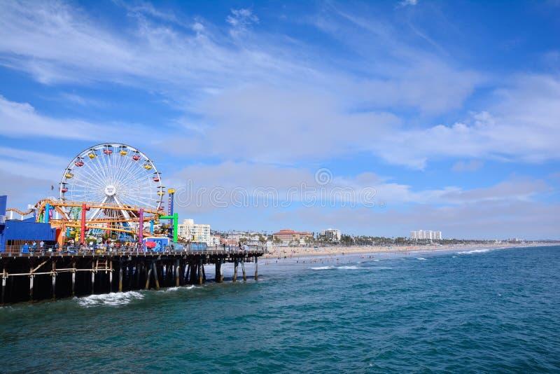 Santa Monica Pier en Los Ángeles imagenes de archivo