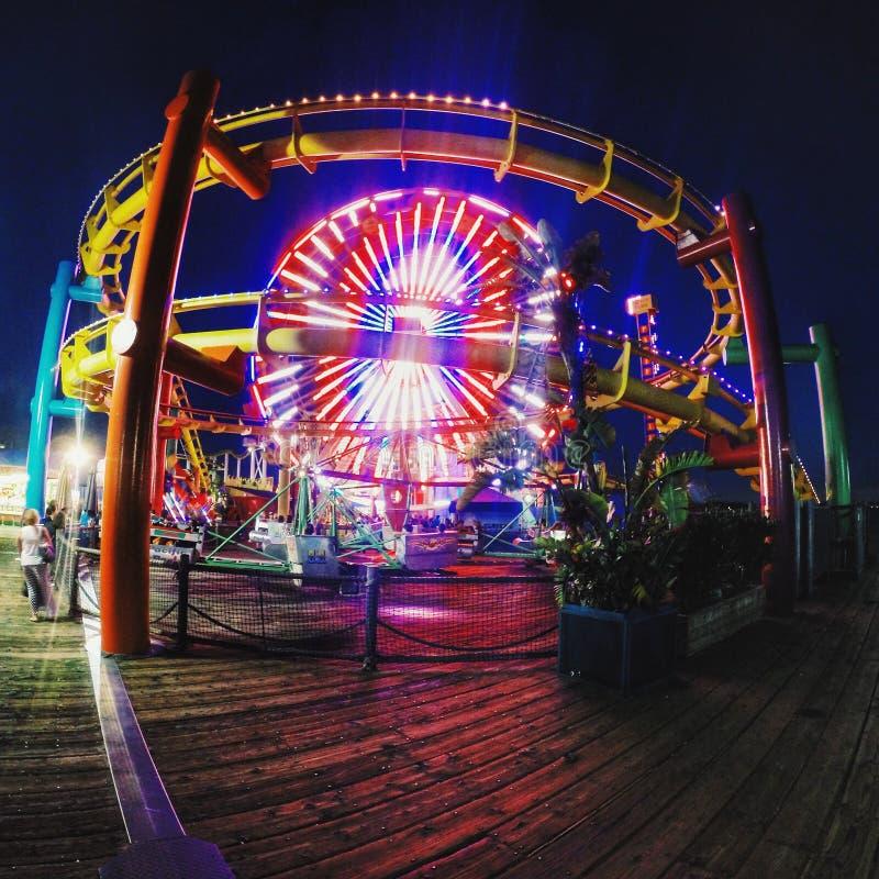 Santa Monica Pier royalty free stock photos