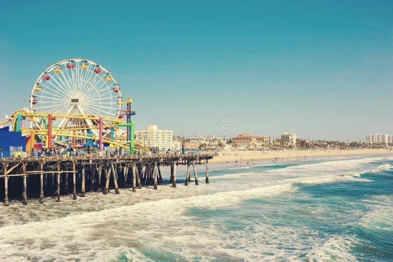 Santa Monica Pier, la Californie, Etats-Unis image stock