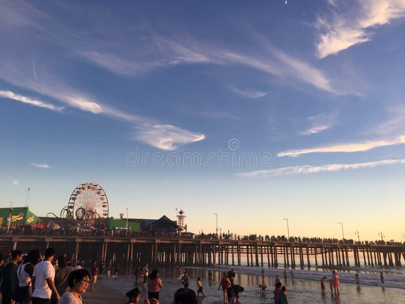 Santa Monica Pier LOS ÁNGELES imagenes de archivo