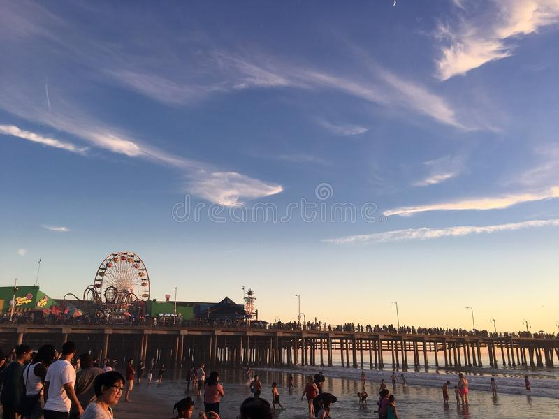 Santa Monica Pier LOS ANGELES immagini stock