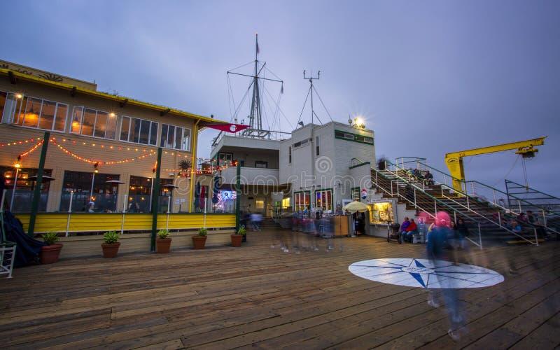 Santa Monica Pier, Pacific Park, Beach, Santa Monica, Los Angeles, California, United States of America, North America royalty free stock image