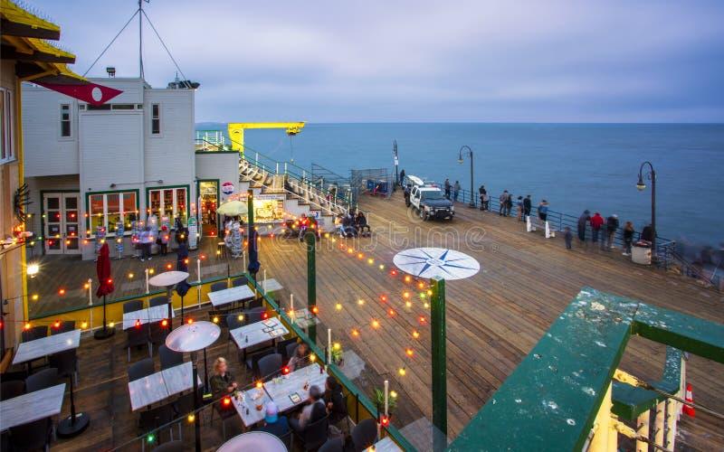 Santa Monica Pier, Pacific Park, Beach, Santa Monica, Los Angeles, California, United States of America, North America royalty free stock photography