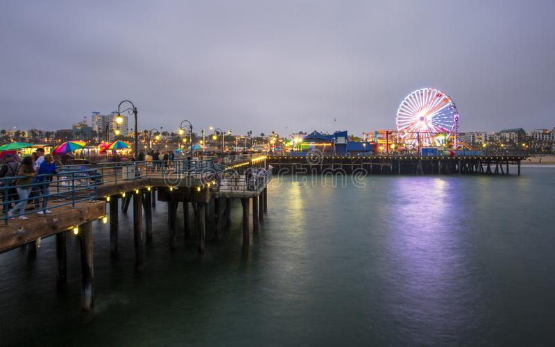 Santa Monica Pier, Pacific Park, Beach, Santa Monica, Los Angeles, California, United States of America, North America stock photography