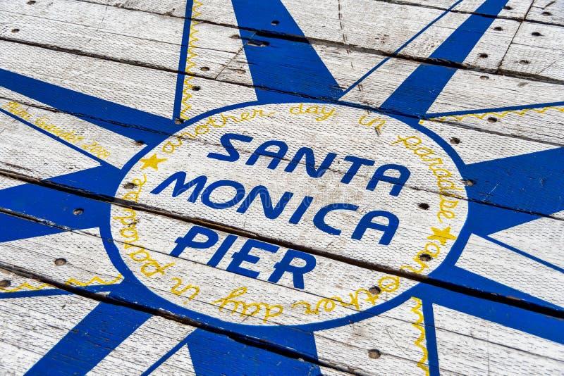 Santa Monica Pier Sign stock photography