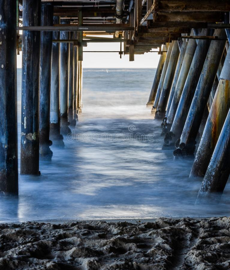 Under santa monica pier califonia royalty free stock photography