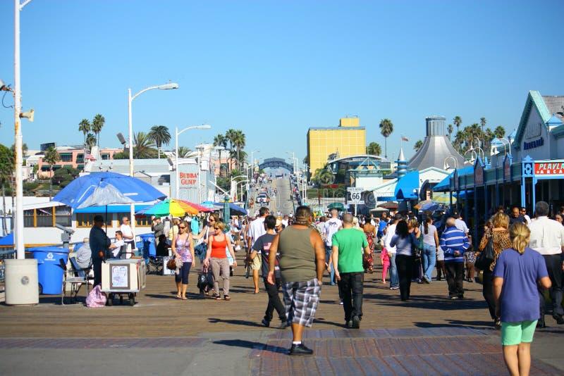 Santa Monica Pier Visitors Editorial Photo