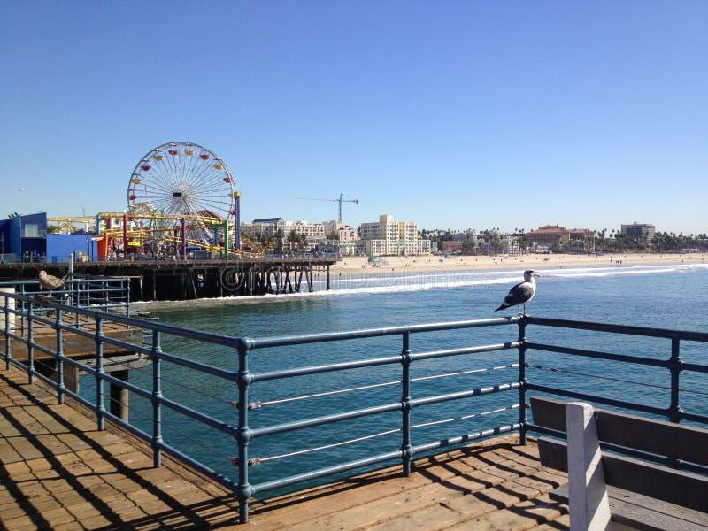 Santa Monica pir royaltyfri bild