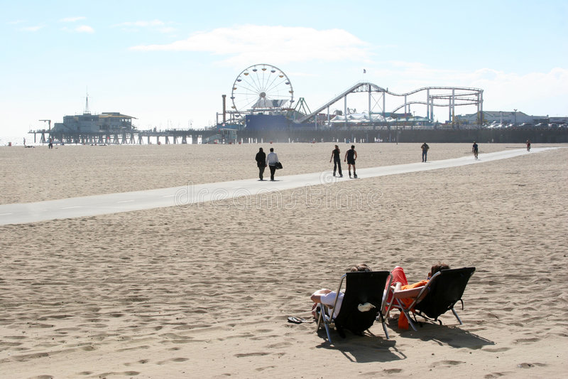 Santa Monica plażowy spokojnie fotografia stock