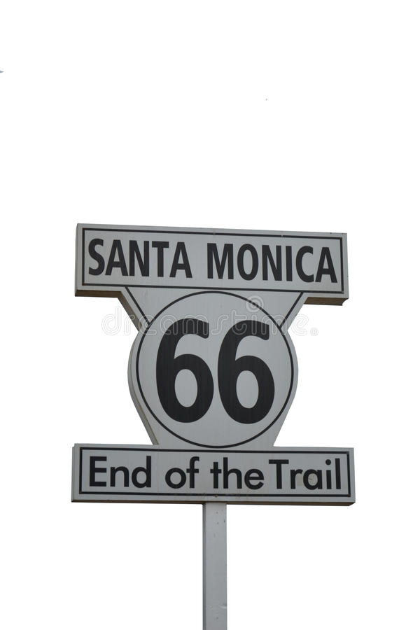 Download Santa Monica Route 66 stock image. Image of tour, california - 22134913
