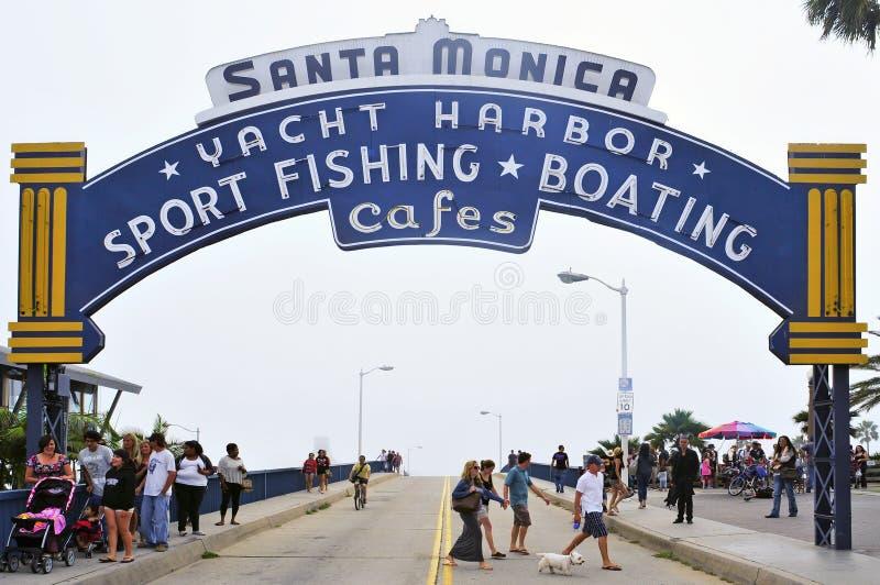 Santa Monica, Stati Uniti fotografia stock libera da diritti